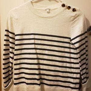 J. Crew nautical sweater.